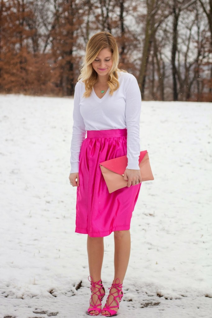 MIDI SKIRT FOR VALENTINE'S DAY.