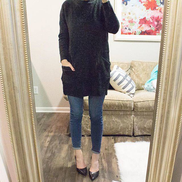 Sweater Dress + Jeans