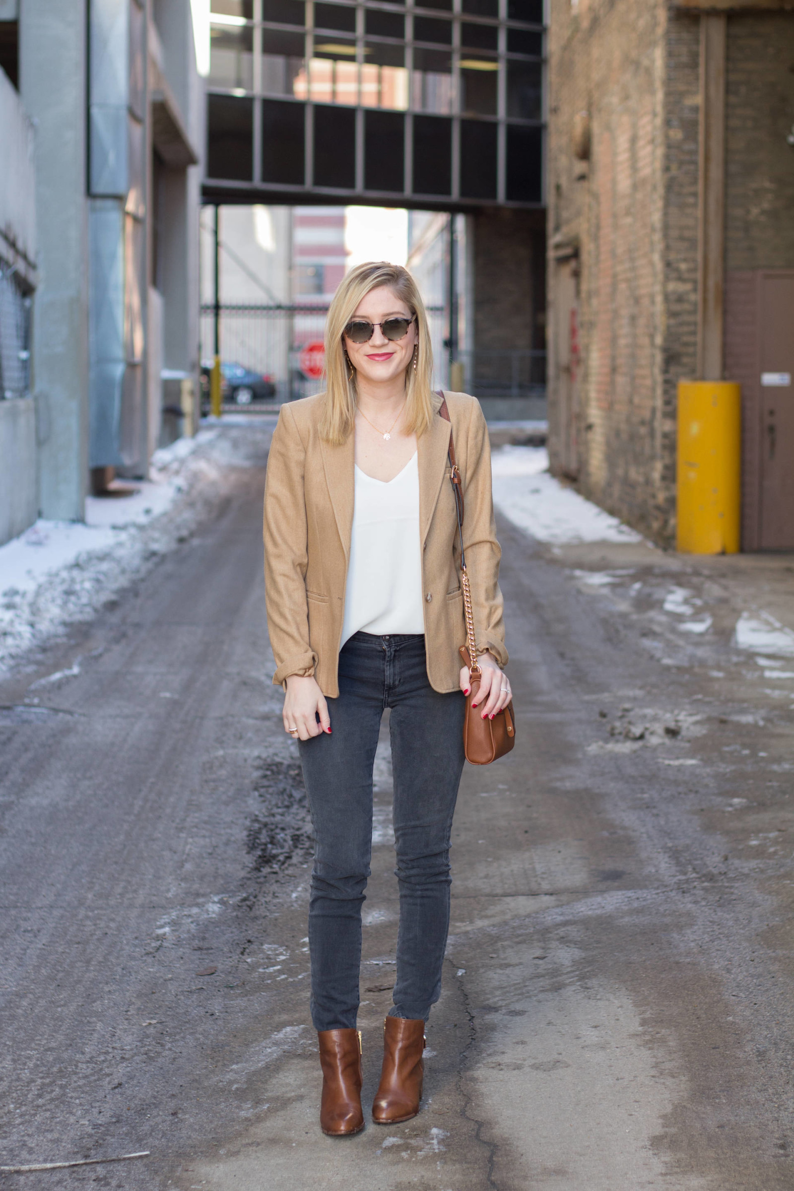 Camel Blazer | Gold-Hatted Lover