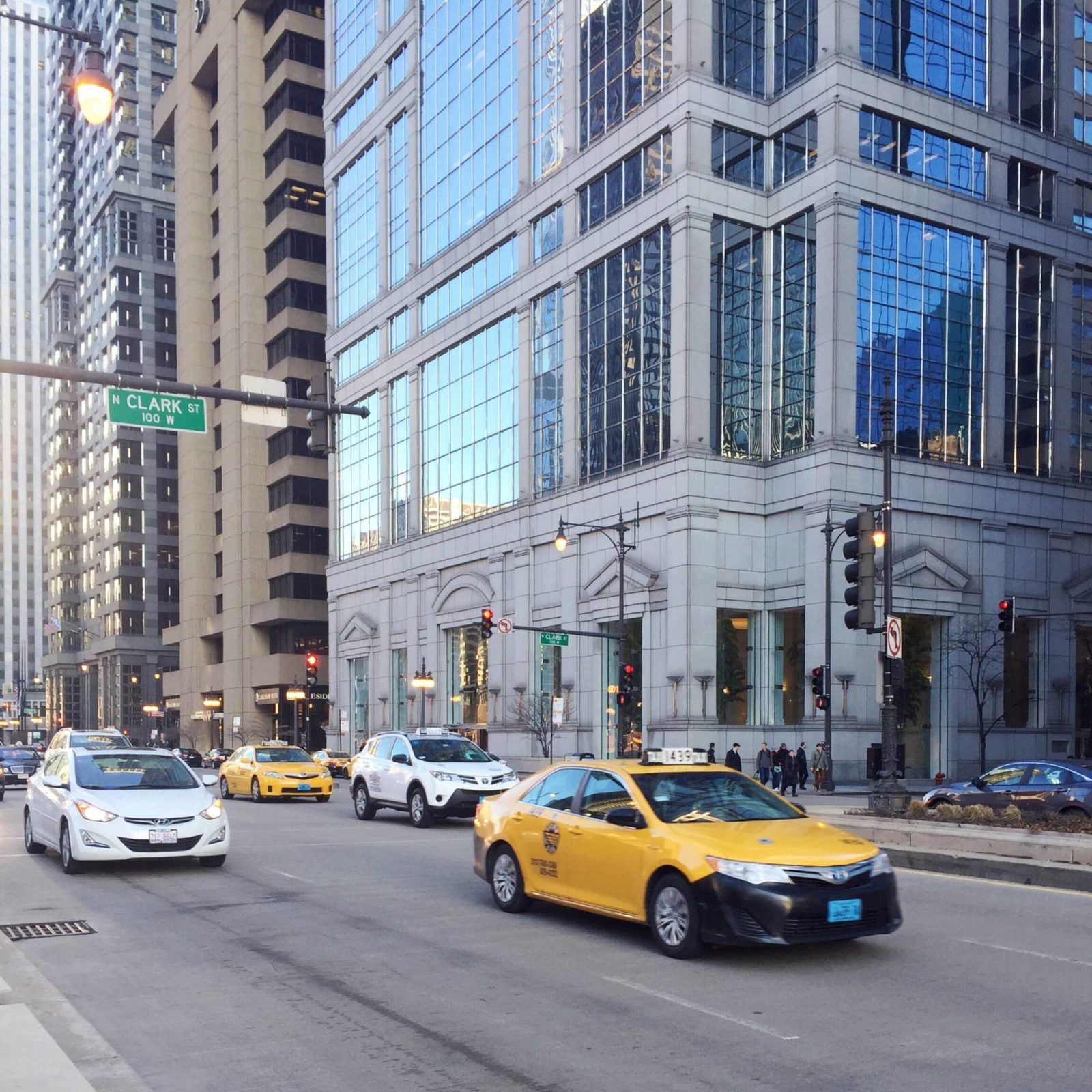 Downtown Chicago Loop via Gold-Hatted Lover