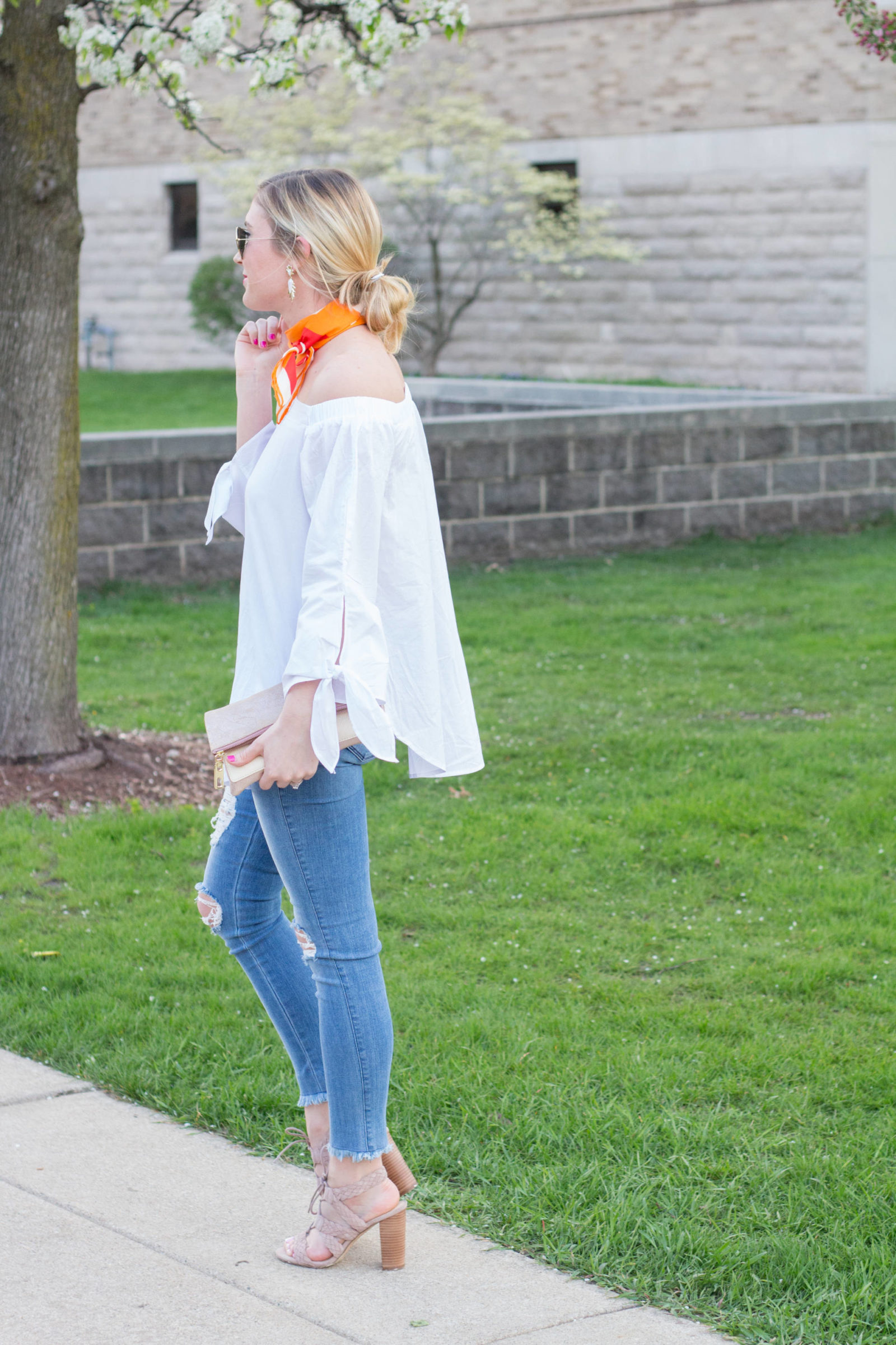 Frayed Hem + Off-The Shoulder | Gold-Hatted Lover
