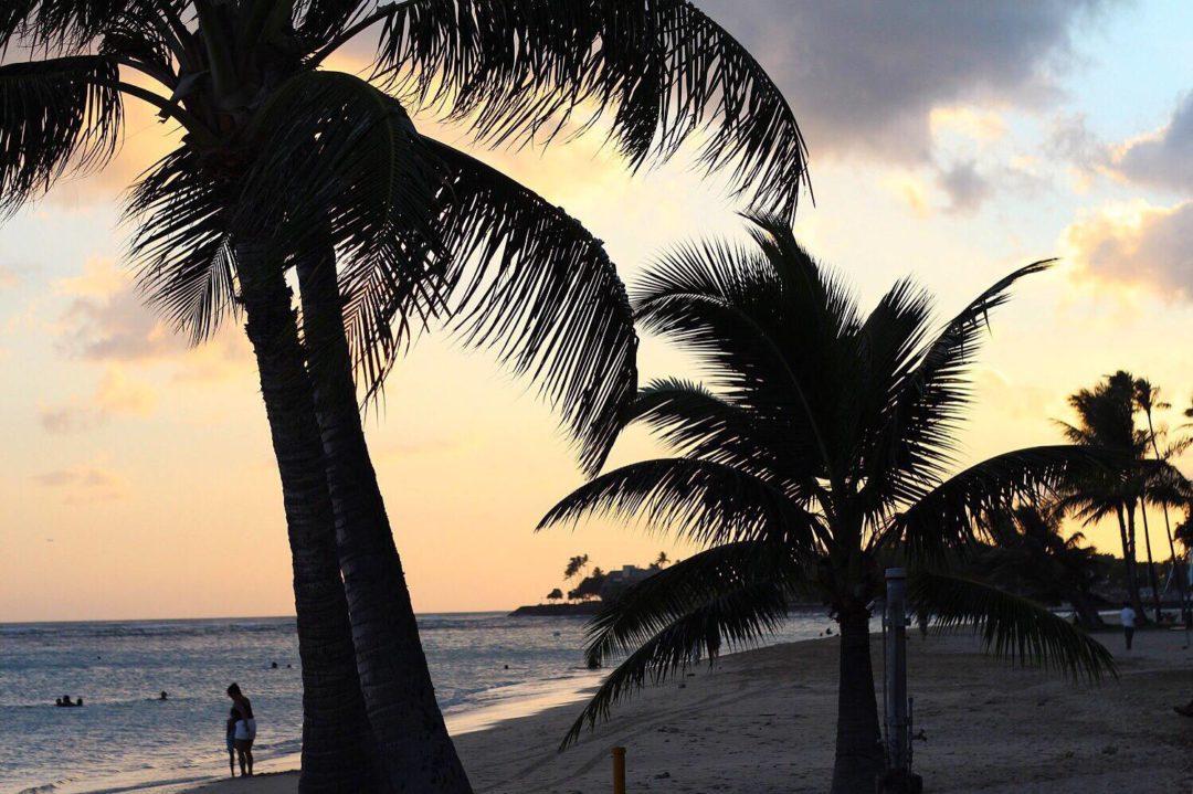ala moana beach park honolulu sunset