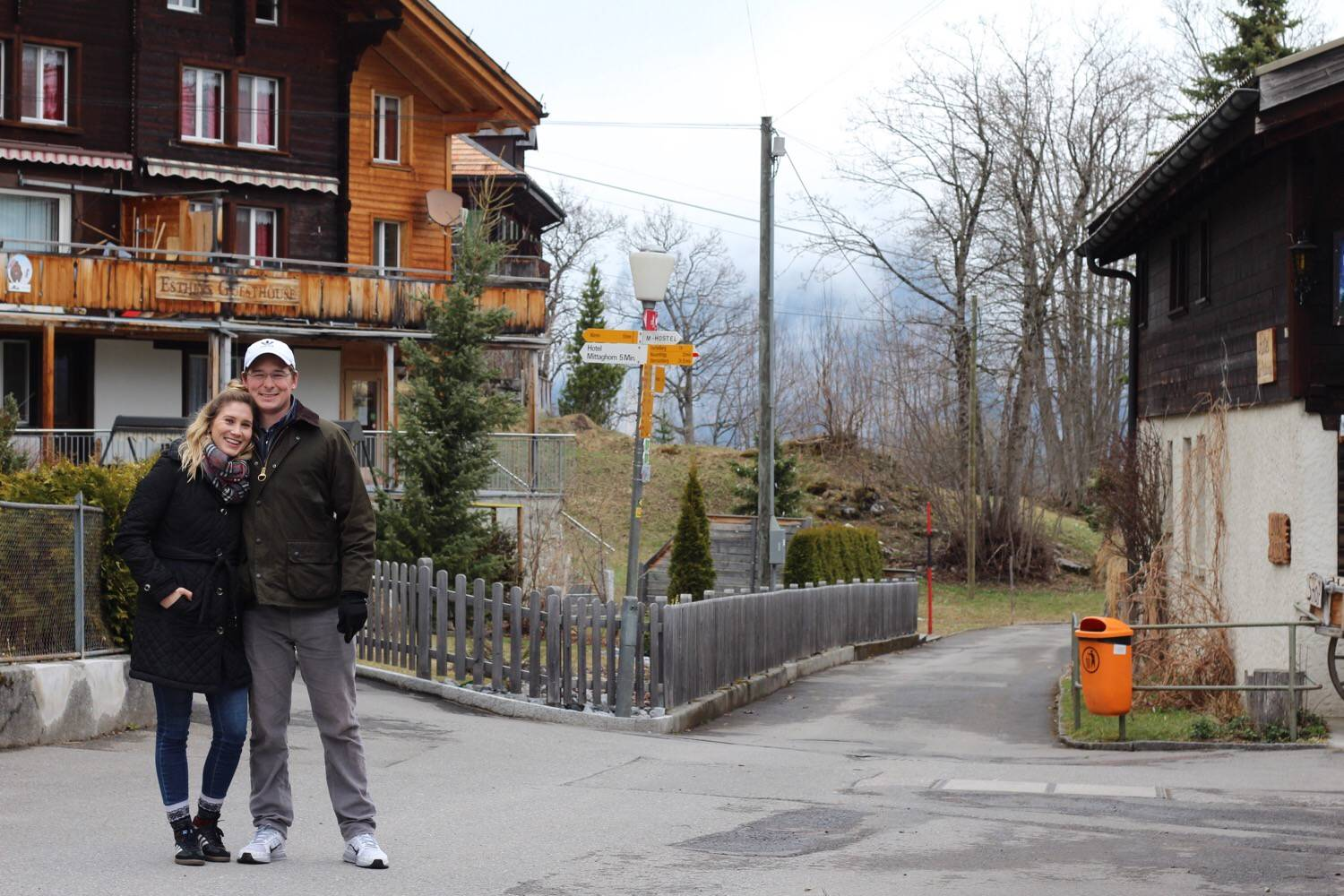 Couple Travel in Gimmelwald Switzerland
