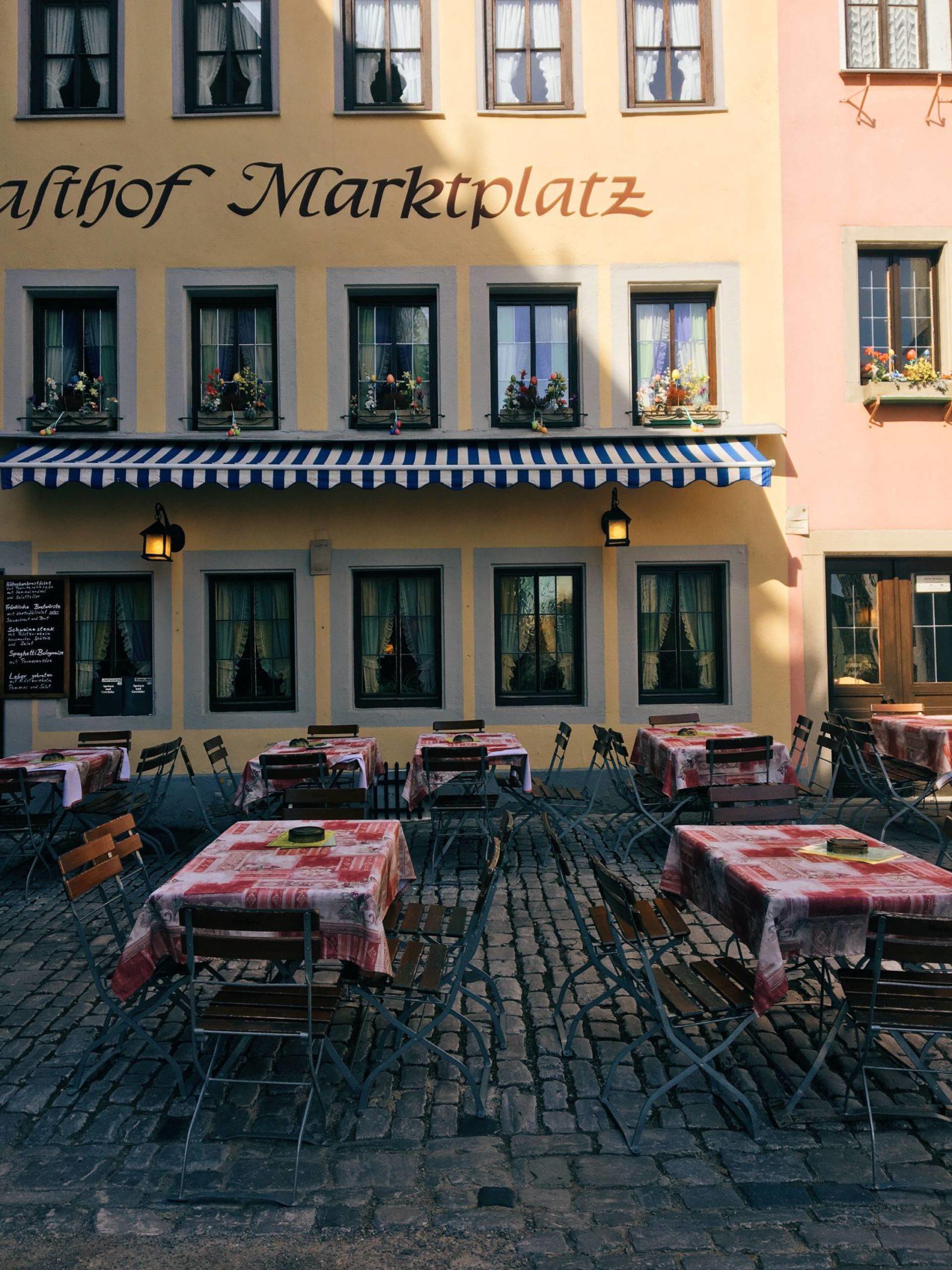 Rothenburg Germany Cafe